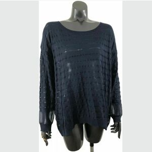 Lane Bryant 14/16 Blue Striped Knit Top